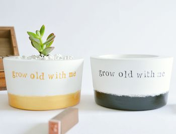 'Grow Old With Me' Planter
