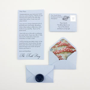 Personalised Tooth Fairy Mini Letter Gift - gift sets