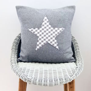 Handmade Wool Cushion With Star