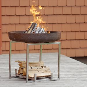 Cube Steel Fire Pit - fire pits & outdoor heating