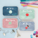 Personalised 'Thank You Teacher' Gift Tins Pastel Edit