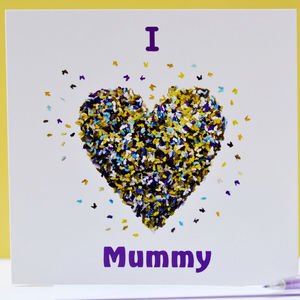 I Love Mummy Butterfly Card/ We Love Mummy Card