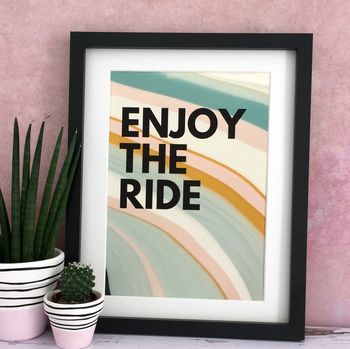 'Enjoy The Ride' Marbled Paint Print