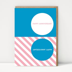 Pattern Happy Anniversary Card - anniversary cards