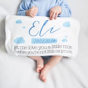Personalised Date Of Birth Baby Blanket