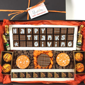 Happy Thanksgiving Chocolate Gift Box