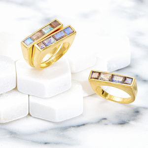 Gold Stacking Ring Equilibrium - rings