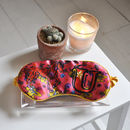 Personalised Silk Eye Mask: 'U' 'V' 'W' 'X' 'Y' 'Z'