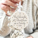 Personalised First Christmas As A Family Decoration