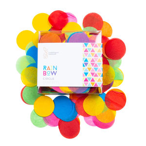 Rainbow Bright Confetti Circles