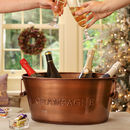 Personalised Contemporary Copper Champagne Bucket