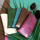 Tropical Leather Glasses Case