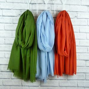 Lightweight Scarf Olive, Blue, Burnt Orange - scarves