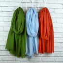 Lightweight Scarf Olive, Blue, Burnt Orange