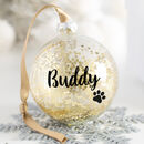 Personalised Pet Paw Print Christmas Bauble