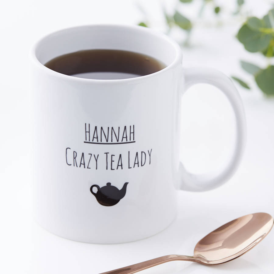 Personalised Crazy Tea Lady Mug