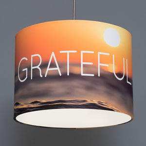 Grateful Yoga Inspired Drum Lampshade