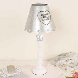 Home Sweet Home Lamp With Zinc Shade - bedside lamps
