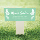 Prosecco Garden Stake Gift For Mum