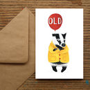 Happy Birthday 'Old' Badger Birthday Card
