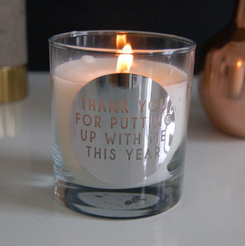 Personalised Thank You Candle Teacher Gift