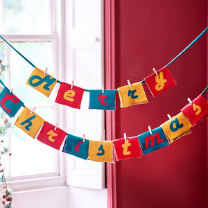 Personalised Knitted Christmas Bunting