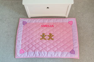 Children's Gingerbread Pink Floor And Play Mat - children's room