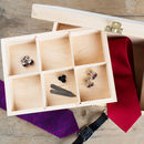 Personalised Mens Wooden Jewellery / Accessory Box