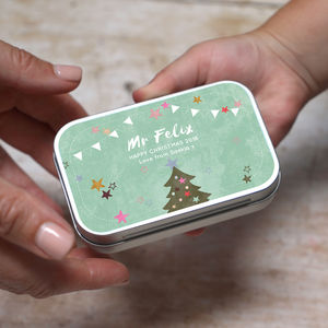 Personalised Kitschmas Christmas Teacher Tin