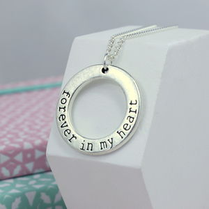 Forever In My Heart Eternity Charm Necklace - women's jewellery