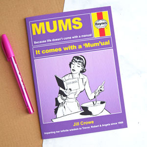 Haynes Manual Personalised Card For Mum - mother's day cards & wrap