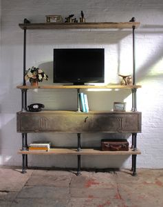 Kensington Shelving Unit With Vintage Gym Locker - office & study