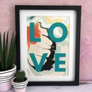 'Love' Abstract Swirled Paint Print