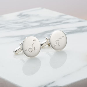 Love And Happiness Molecule Cufflinks - cufflinks