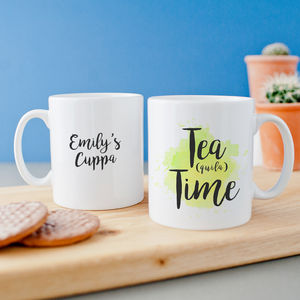 Personalised 'Tea Quila Time' Mug