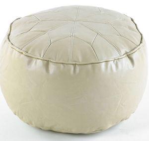 Moroccan Daisy Wheel Pouffe Easy Clean Faux Leather - furniture