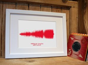 Personalised Favourite Song Sound Wave Print - music-lover