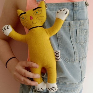 Kitt The Cat Handmade Soft Toy - shop by recipient