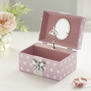 Musical Ballerina Jewellery Box For Little Girls