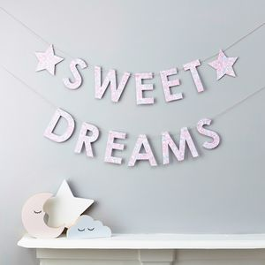 Liberty Sweet Dreams Garland Fabric And Card - decorative accessories