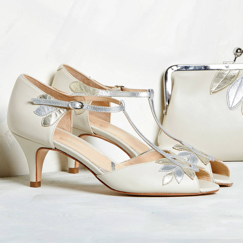 Are you interested in our Low heel t-bar shoes? With our low heel wedding shoes you need look no further.