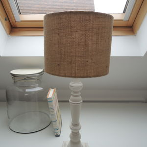 Handmade Lampshade In Hessian Fabric - lampshades