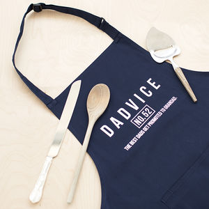 'Dadvice Grandad' Men's Apron - gifts for fathers