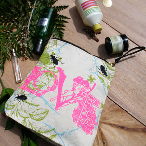 Love Wash And Cosmetic Bag - make-up bags
