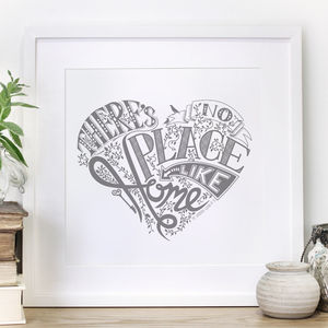'No Place Like Home' Wizard Of Oz Heart Print - film & tv