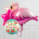 Fabulous Flamingo Inflated Balloon Package
