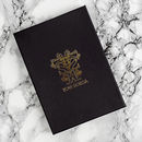 Luxury box packaging gold embossed Tovi Sorga British designer