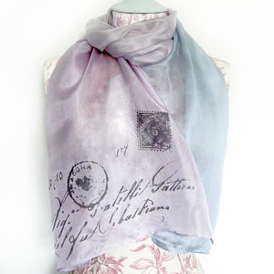 With Love Letter Silk Scarf
