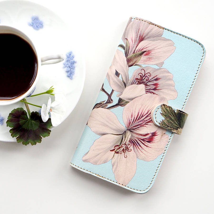 Tovi Sorga Leather iPhone / Galaxy Phone Case: Geranium