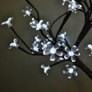 White Blossom Bonsai LED Tree Light 45cm - table lamps